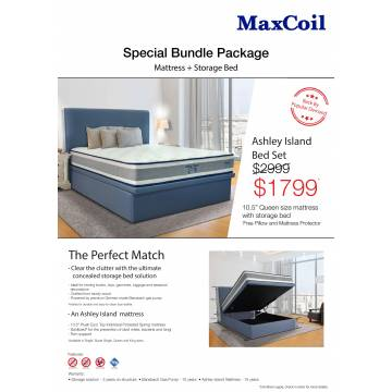 Ashley Island Bed Set - Queen Size